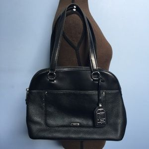 Ralph Lauren Cowhide Leather Dome Satchel Bag